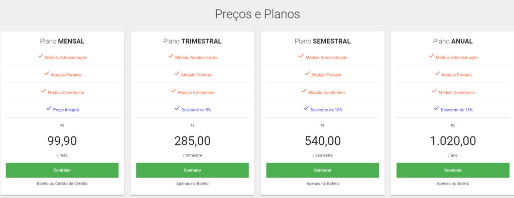 Preços e Planos Sistema para Administração de Condomínios - SCAW Sistemas